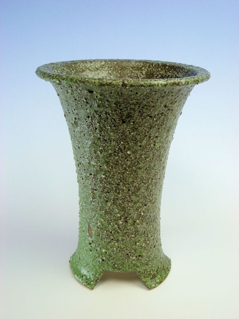 画像1: 陶器鉢-古代緑色-5寸鉢 (1)