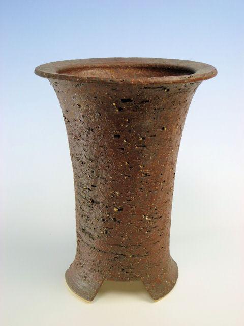 画像1: 陶器鉢-岩石色-5寸鉢 (1)